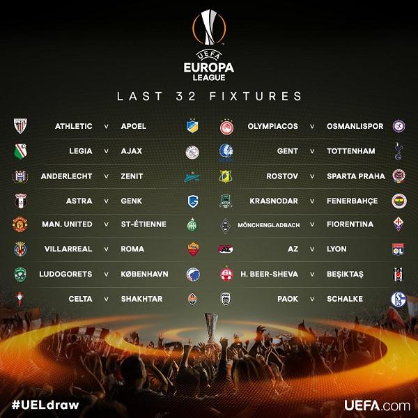 Inilah Hasil Drawing 32 Besar Liga Europa 2016 !