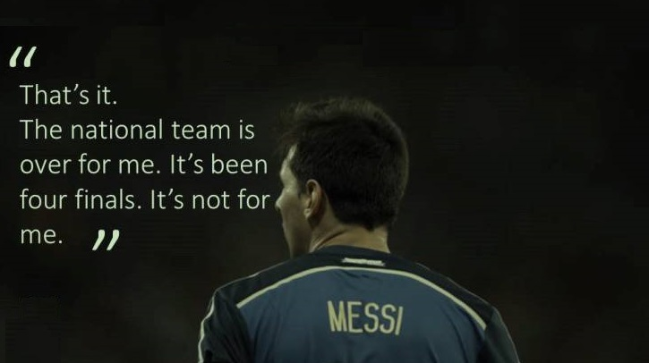 Kapten Tim Argentina Lionel Messi Mundur Dari Sepakbola Internasional