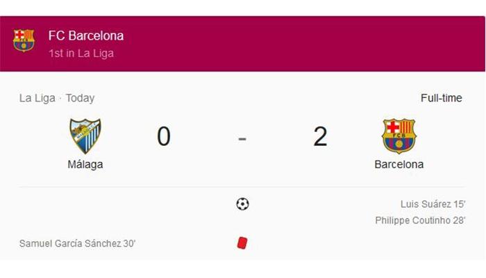 Barcelona unggul 11 poin