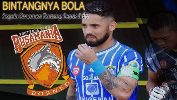 Skuat Borneo FC Marlon Da Silva siap melawan Persija Jakarta