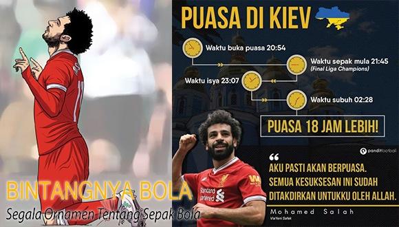 Mohamed Salah menjalankan Puasa 18 jam di Kiev