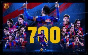 Lionel Messi Mencetak Gol ke 700