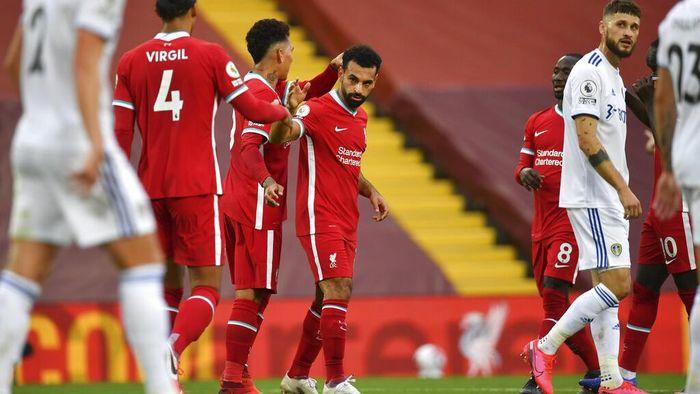 Mohamed Salah Kantongi Hat-trick Saat Lawan Leeds