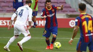 Sergio Ramos Bikin Messi Tersungkur
